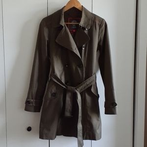 Vince Camuto trench coat belted dress